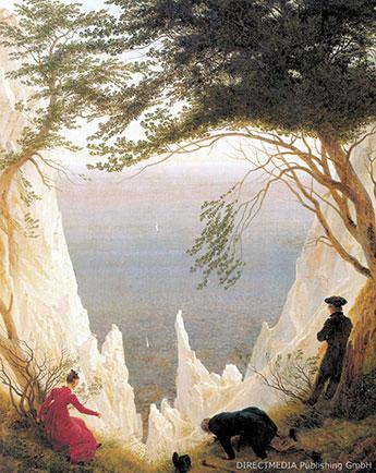Das berühmte Kreidefelsen-Bild von Caspar David Friedrich